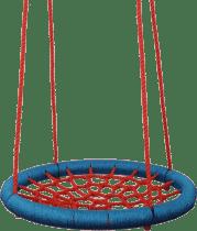 WOODY Hojdací kruh (priemer 85cm) - červený
