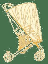 OILILY Moskitiera do głębokiej gondoli, Yellow