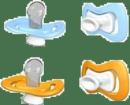 IIAMO piece dudlík 2 ks - oranžová/modrá 0-6m