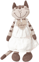 LUMPIN Mačka Angelique v šatách, malá