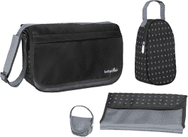 BABYMOOV Prebaľovacia taška Messenger Bag, Black