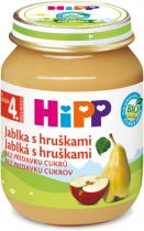 HIPP ovocný príkrm Jablká s hruškami 125g