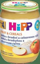 HIPP BIO Jablka s broskví a celozrnnou rýží (190 g) - ovocný příkrm