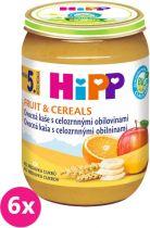 6x HIPP BIO Ovocná kaša s celozrnnými obilninami (190 g) - ovocný príkrm