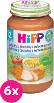 6x HIPP zelenina s cestovinami a kuraťom (220 g) - mäso-zeleninový príkrm