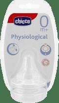 CHICCO Smoczek Physio na butelkę silikonowy, 0M+ przepływ normalny 2 Szt.