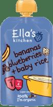 ELLA'S Kitchen Przecier dla niemowląt banan morela ryż BIO 120g ELLA'S Kitchen