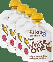 4x ELLA'S Kitchen, Ovocné pyré - White One (Kokos) 90 g