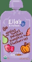 ELLA'S Kitchen Sladké zemiaky, tekvica, jablko a čučoriedky 120g