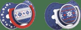 LOVI Smoczek uspokajający 2szt, 3-6 m, kolekcja WINTER (niebieski)