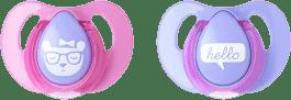 TOMMEE TIPPEE Cumlík Cherry latex 2 ks 6-18m Basic-dievča