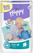 BELLA HAPPY Junior 16+ kg, extra Big Pack, 54 ks - jednorazové plienky