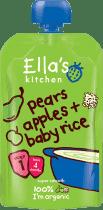 ELLA'S Kitchen Detská ryža - Hruška a jablko 120g