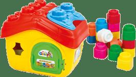 CLEMENTONI CLEMMY baby - Kýblik domček s otváracou strechou a 15 kockami