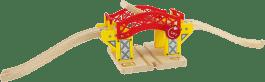 BIGJIGS Drevené vláčikodráhy - Zdvíhacie most