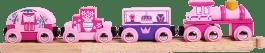 BIGJIGS Vláčik vláčikodráhy - Vlak pre princezné + 3 koľaje