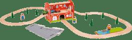 BIGJIGS Kolejka przejeżdżająca przez dworzec – 40 części