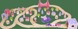 BIGJIGS Drevená vláčkodráha pre dievčatá - princezné