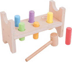 BIGJIGS Drewniane zabawki – Zabawka do wbijania