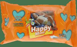 HAPPY MIMI Dziecięce toaletowe chusteczki nawilżane z aloe 72 szt.