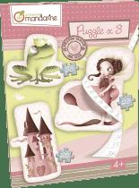 AVENUE MANDARINE Velké puzzle 3v1 - Princezny