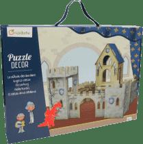 AVENUE MANDARINE Kartónový hrad s rytiermi