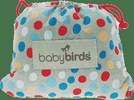 BABYBIRDS Podręczne siedzisko na krzesło – River Stone