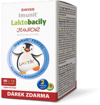 IMUNIT SWISS Laktobacily JUNIOR 60+12 tablet ZDARMA