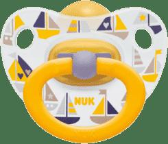 NUK Smoczek Classic HAPPY KIDS, lateks, rozmiar 1 (0-6 mies.) – żółty