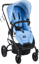 VALCO SNAP Ultra BLACK wózek niebieski