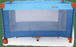 PETITE&MARS Postieľka cestovná Koot – modrá s lietadlom