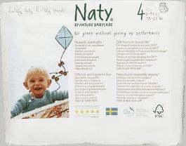 NATY NATURE BABYCARE Ekologiczne pieluchomajtki 4 (8-15Kg) 22 Szt
