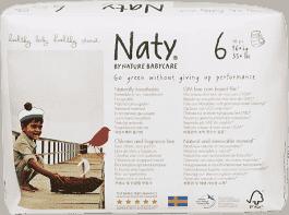 NATY NATURE BABYCARE Ekologiczne pieluchomajtki 6 (16+Kg) 18 Szt