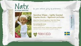 NATY NATURE BABYCARE ECO Sensitive 56 ks, parfemované - vlhčené ubrousky