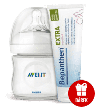 AVENT Láhev Natural 125 ml (PP) + BEPANTHEN® 30g