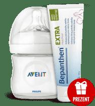 AVENT Butelka Natural 125ml PP + BEPANTHEN® 30g