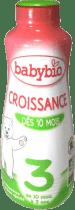 BABYBIO Croissance 3 rastové mlieko tekuté 1l