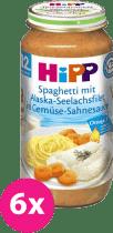 6x HIPP Špagety s mořskou rybou a zeleninou (250 g) - maso-zeleninový příkrm