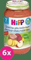 6x HIPP BIO červená repa s jablkami a hovädzím mäsom (220 g) - mäso-zeleninový príkrm