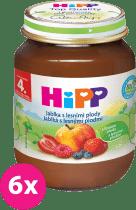 6x HIPP jablkový s lesnými plodmi (125 g) - ovocný príkrm