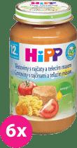 6x HIPP BIO paradajky s cestovinami a teľacím mäsom (220 g) - mäso-zeleninový príkrm