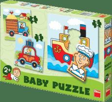 DINO Baby Puzzle Dopravné prostriedky