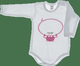 FEEDO dětské body KRAB (růžová), vel. 62