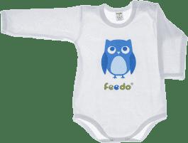 FEEDO detské body SOVA (modrá), veľ. 68 (FEEDO klub)
