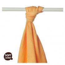 KIKKO Bambusowy ręcznik/pieluszka Colours 90x100 (1 szt.) – orange