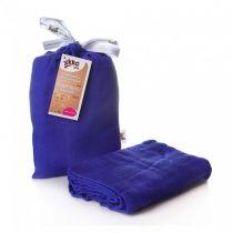 KIKKO Bambusowy otulacz Colours 120x120 (1 szt.) – ocean blue