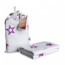 KIKKO Bambusowy otulacz Stars 120x120 (1 szt.) – lilac