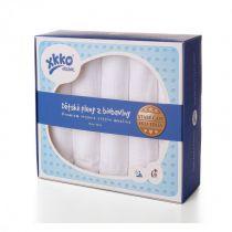 KIKKO Dziecięce pieluszki z biobawełny Retro 70x70 (5 szt.) – białe