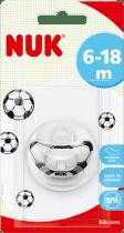 NUK Dudlík Classic Football, silikon , velikost 2 (6-18m.)