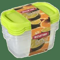 CURVER Dózy na jedlo Food Set Mix 3 x 0.5l, zelená